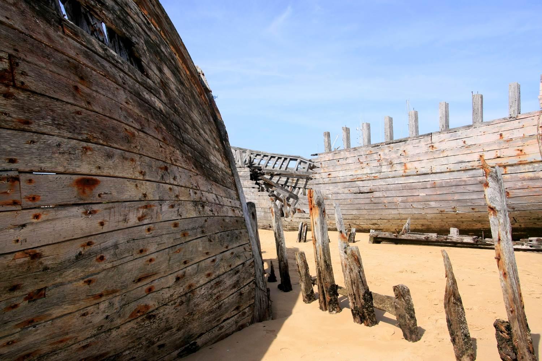 Cimetière à bateaux sur la Ria ©
