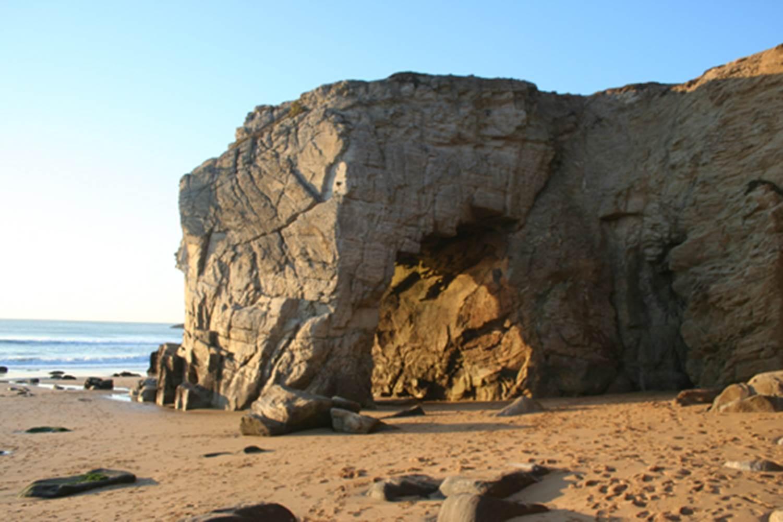 Côte Sauvage Arche de Port Blanc Quiberon Morbihan Bretagne Sud © nomas
