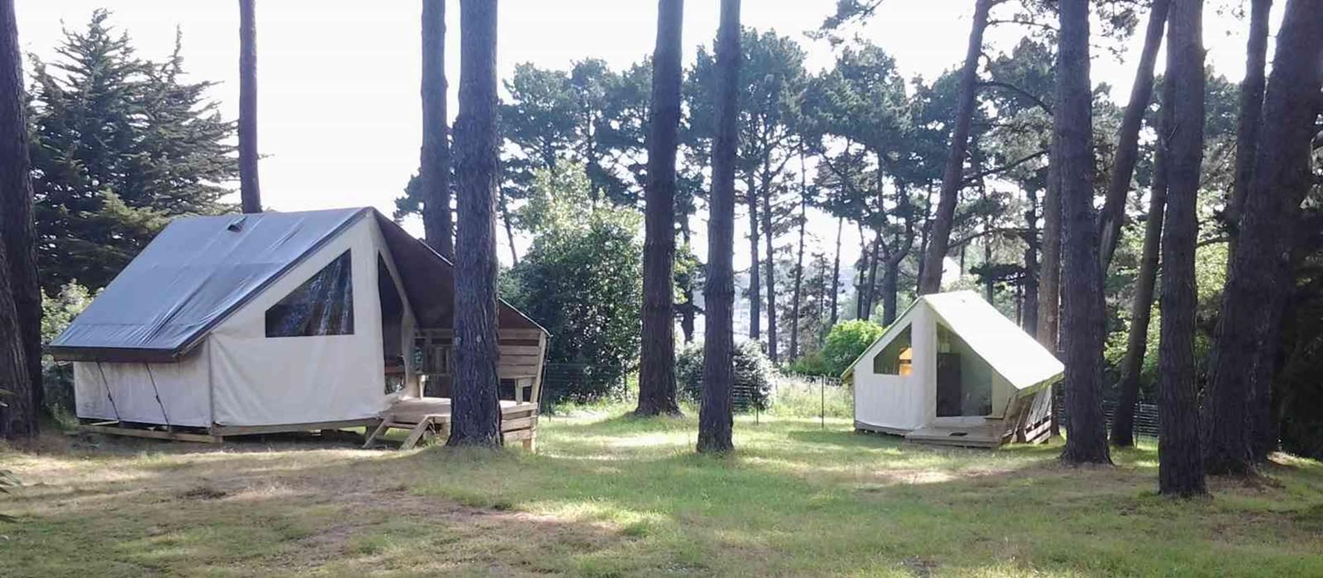 location de tentes aménagées Ecolodges © Camping-L-Ocean-Le-Palais