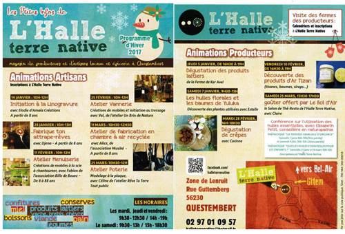 Les animations d'hiver à l'Halle Terre Native