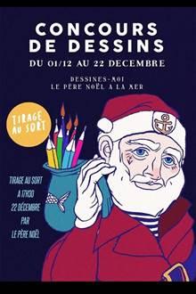 Concours de dessins Un Père Noël à la mer