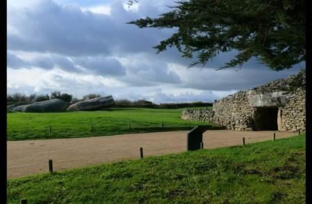 Accès au site des mégalithes - Locmariaquer