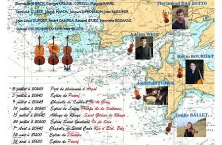 Violoncelle en voile à Arzal